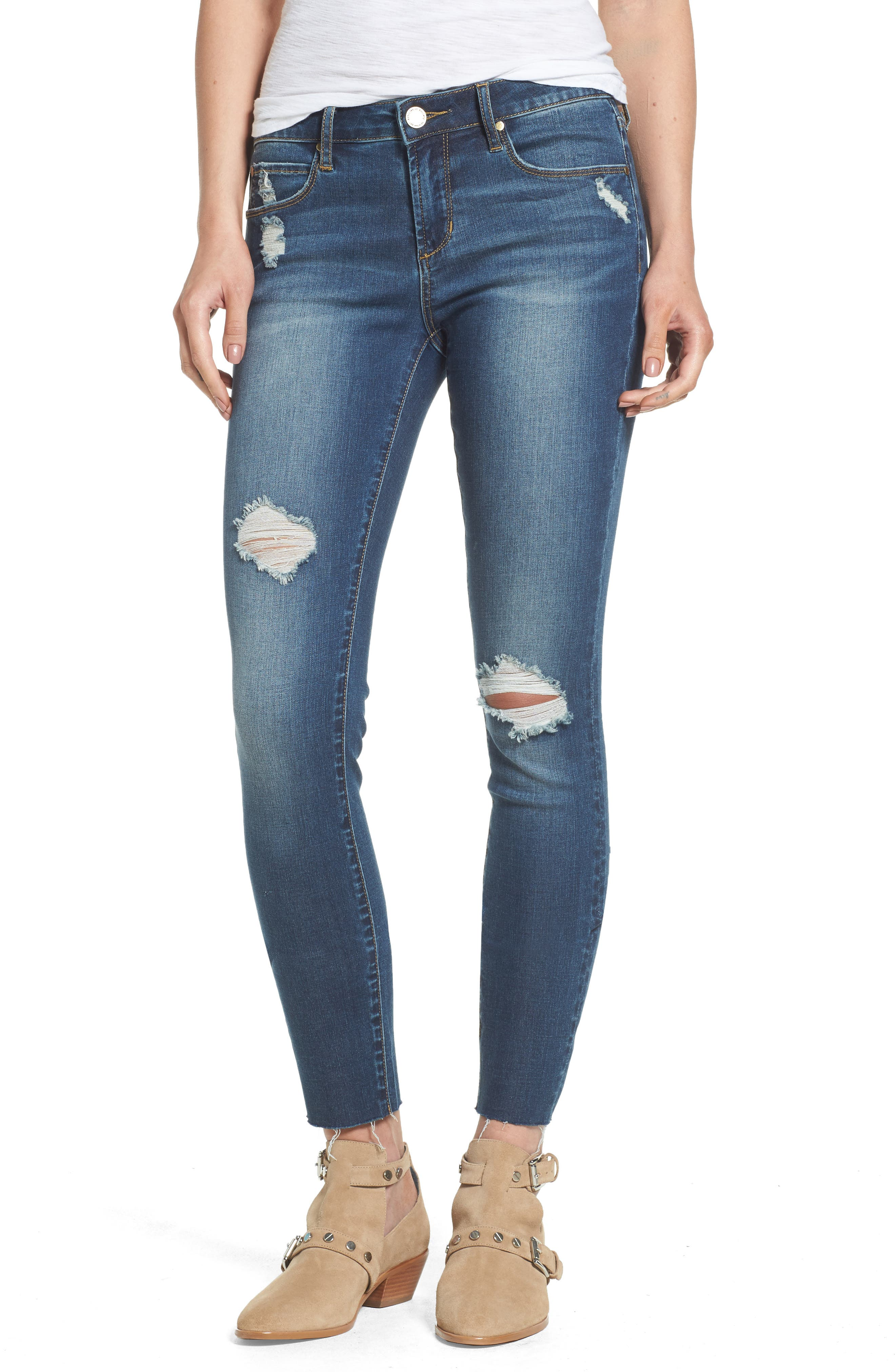 Denim skinny jeans for juniors